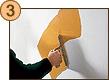 PRIMA MANO - Durante la posa il prodotto si rilassa rendendo facile questo lavoro.